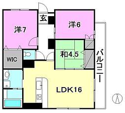 THE 岩崎[3F東 号室号室]の間取り