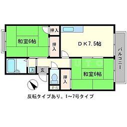 プレジールK[2階]の間取り