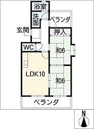 アイオーマンション[5階]の間取り