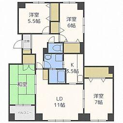 aNEXT新札幌[2階]の間取り