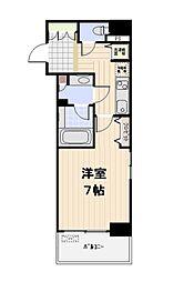 東京メトロ日比谷線 人形町駅 徒歩4分の賃貸マンション 2階1Kの間取り