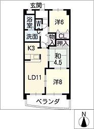 BIO MASAKI[3階]の間取り
