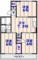 トリヴァンベール大野[2階]の間取り