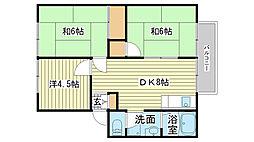 北門アーバンハウス[102号室]の間取り