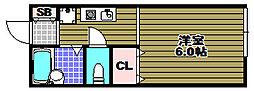 アメニティハイム[1階]の間取り