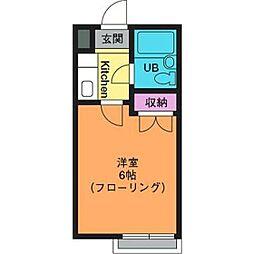 サンハイツ温水[2階]の間取り