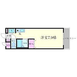クリークサイドマンションA棟[3階]の間取り