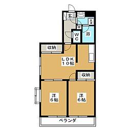 フォルスコート[2階]の間取り