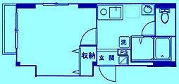 エスポワールFuji[1階]の間取り