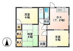 奥山借家[1階]の間取り