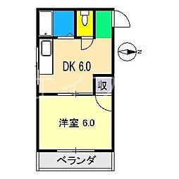 コーポマルミ[3階]の間取り