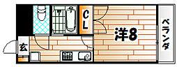 クラックス[3階]の間取り