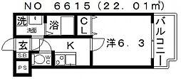 レジデンス上町台[11階]の間取り