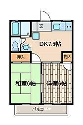 ホイッスル3[2階]の間取り