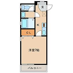 シャン・カマラードC棟[2階]の間取り