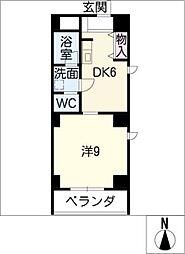 助六ビル 7階1DKの間取り