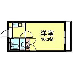 熊本県熊本市東区新南部3丁目の賃貸マンションの間取り