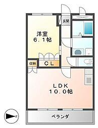 JR肥薩線 日当山駅 徒歩12分の賃貸アパート 1階1LDKの間取り