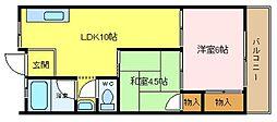 大阪府堺市堺区柏木町4丁の賃貸マンションの間取り