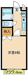 兵庫県神戸市西区枝吉3丁目の賃貸アパートの間取り
