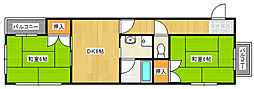 Gハイツ[3階]の間取り