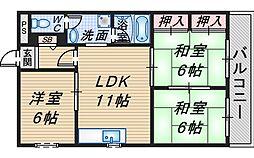 サングリーンマンション[3階]の間取り