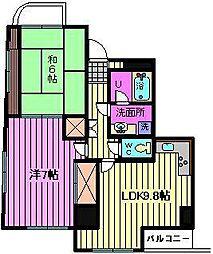 新田第9ビル[702号室]の間取り
