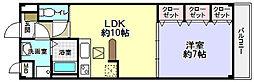 ナリッシュFujisaka[2階]の間取り