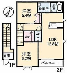 フェリス A棟[2階]の間取り