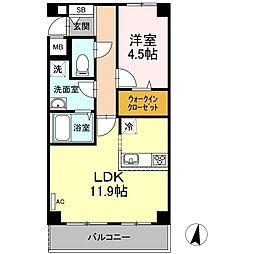 仮)D−room宮内4丁目[1階]の間取り