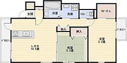 ルシオ藤井寺[3階]の間取り