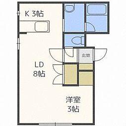 宮の森310マンション[4階]の間取り