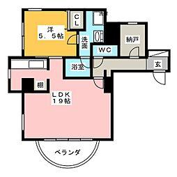 SMY88植田[6階]の間取り