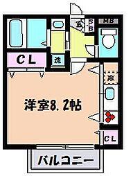 兵庫県神戸市東灘区魚崎南町3丁目の賃貸アパートの間取り