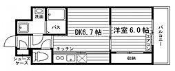 岡山県岡山市北区寿町の賃貸マンションの間取り