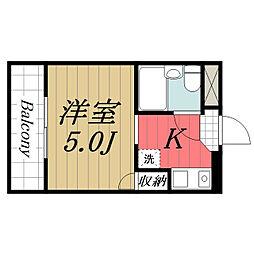 キャピタル壱番館[4階]の間取り