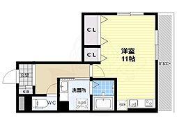 仮 大藤産業株式会社アパート 1階ワンルームの間取り