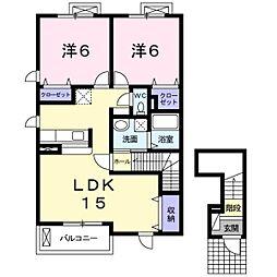 マンハイム 7番館[2階]の間取り