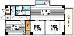 メゾン松岡[3階]の間取り