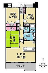 メロディーハイム桃山台[8階]の間取り