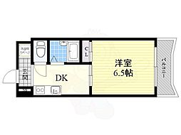 Five Two 6階1DKの間取り