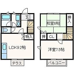 [テラスハウス] 大阪府高槻市芥川町4丁目 の賃貸【/】の間取り
