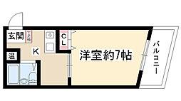 ラ・メゾン藤ヶ丘[3E号室]の間取り