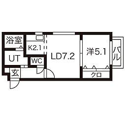 アンフォーレパープル[4階]の間取り