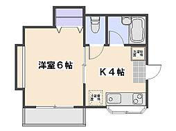 パルコ中央[2階]の間取り