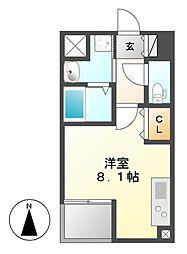 レーベスト松原[3階]の間取り