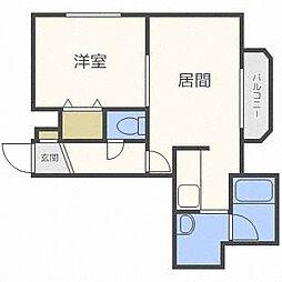 エスポワール[4階]の間取り