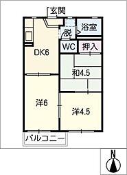 クラリス21[1階]の間取り
