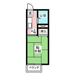 サンシティ山田[2階]の間取り