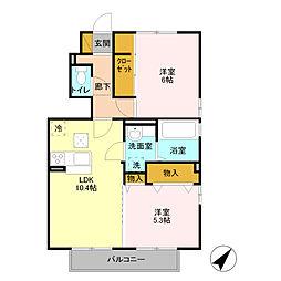 ヘルシーホーム the 2nd[1階]の間取り